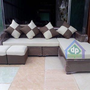 Thanh lý sofa nỉ góc thông minh xám ở Thanh Xuân