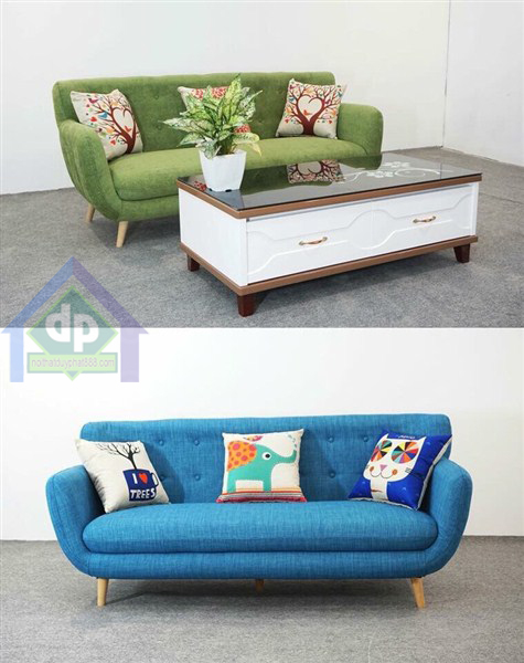 Mẫu sofa nỉ họa tiết đơn giản