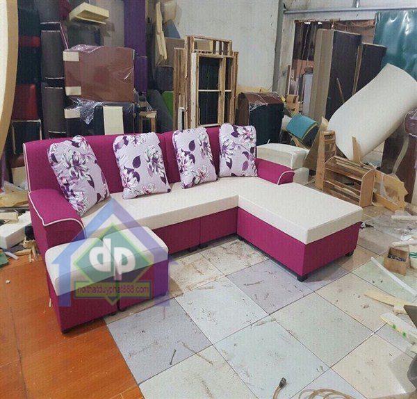 Thanh lý sofa góc màu ghi tím tại Thanh Xuân