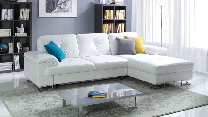 Các mẫu sofa đẹp bằng vải nỉ cho phòng khách hiện đại