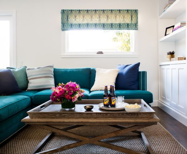 Chọn ghế sofa trộn nhiều màu giúp phòng khách thêm nổi bật