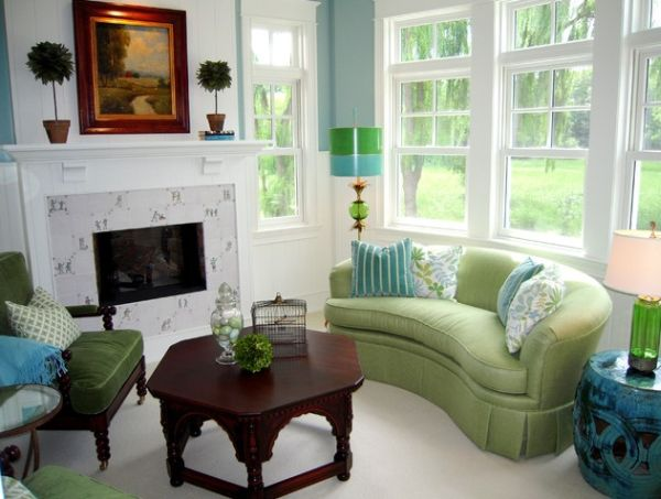 Chọn sofa với màu sắc tương phản