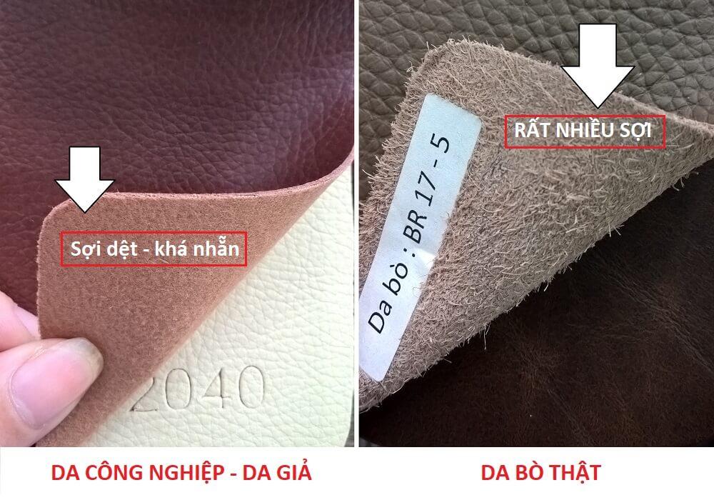 """Cách phân biệt sofa da thật với sofa giả da """"CHUẨN NHẤT"""""""