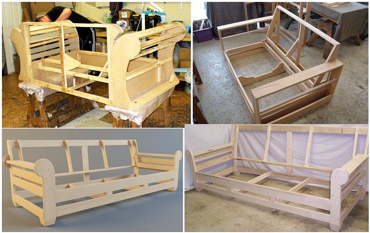 Khung gỗ của sofa xuất xứ Châu Âu đa phần được làm từ gỗ sồi