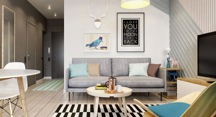 Mẫu ghế sofa cho phòng khách nhỏ có chân