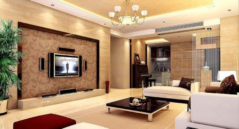 Kệ trang trí âm tường đặt tivi