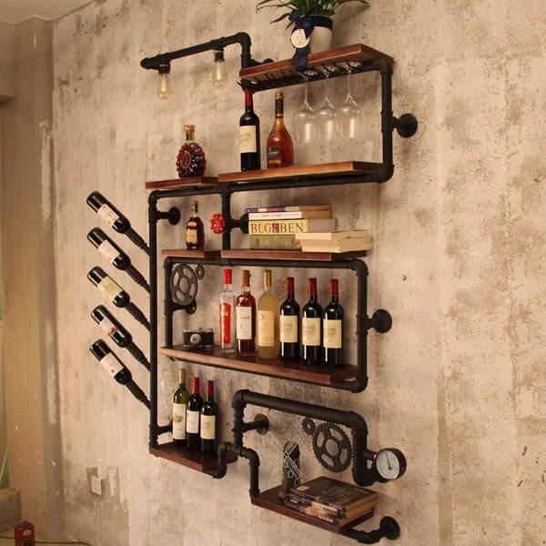 Kệ rượu trang trí bằng sắt