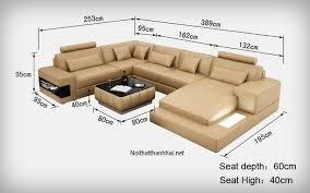 Kích thước sofa chữ L chuẩn và hay được sử dụng nhất