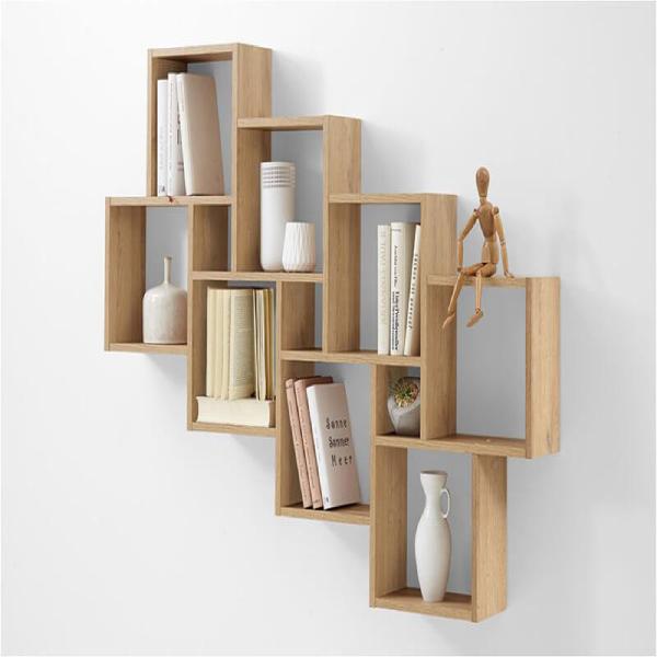 Kệ gỗ treo tường với thiết kế đơn giản nhưng cuốn hút