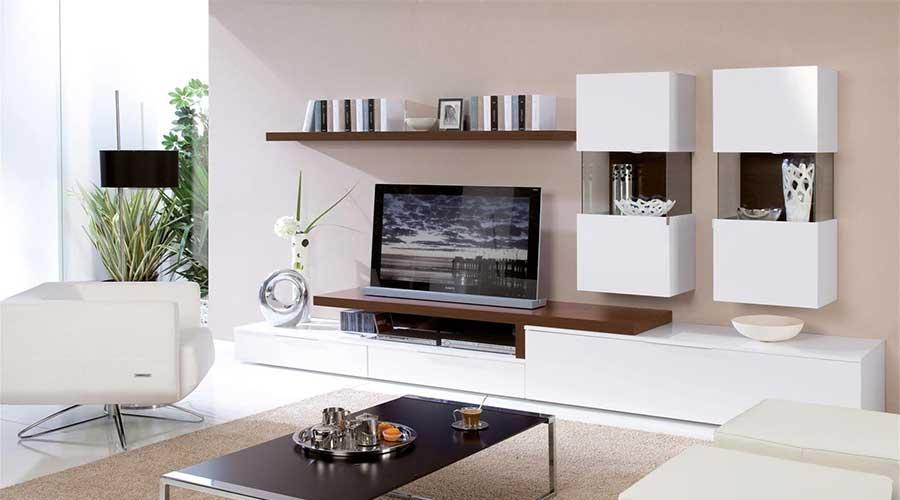 Kệ trang trí bằng gỗ công nghiệp đẹp cho phòng khách