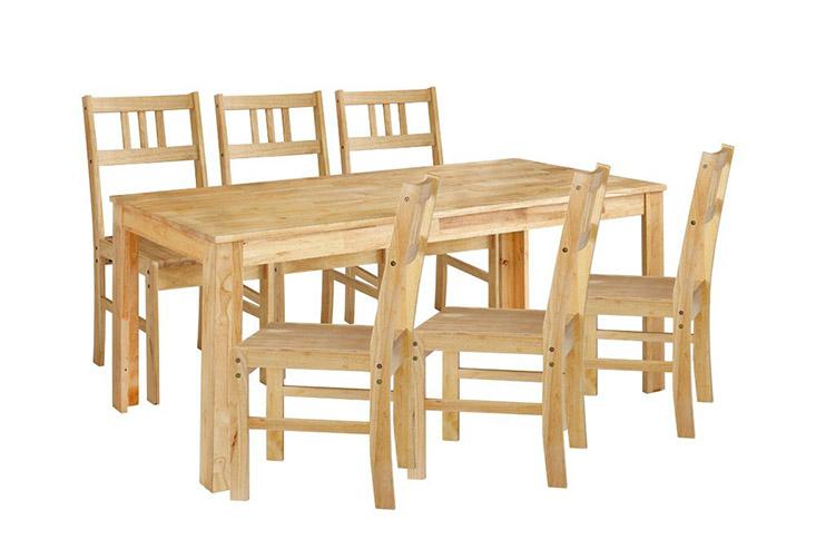 Bộ bàn ăn 6 ghế có thiết kế đơn giản nên phù hợp với mọi không gian phòng ăn
