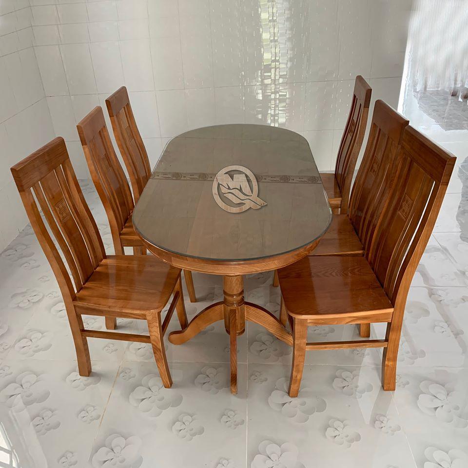 Bộ bàn ăn 6 ghế có đệm ngồi