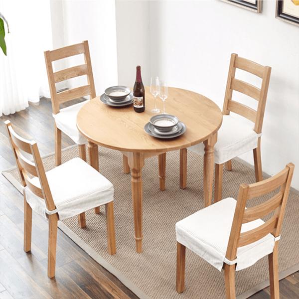 Tổng hợp các bộ bàn ăn gỗ cao su giá rẻ chất lượng tốt nhất